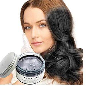 Black Temporary Hair Dye Wax Mud